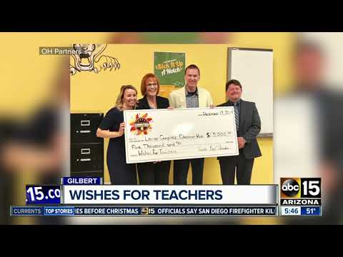 Desert Hills High School teacher surprised with check to buy new tech