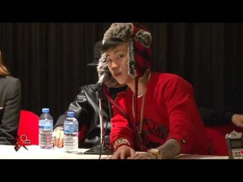 JAY PARK & Dok2 press conference in Paris on October 26th 2013