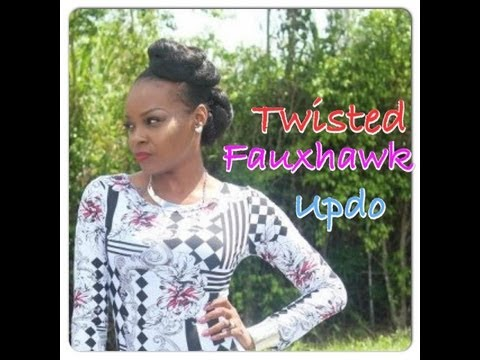 FAUX-HAWK TWISTED UPDO TUTORIAL