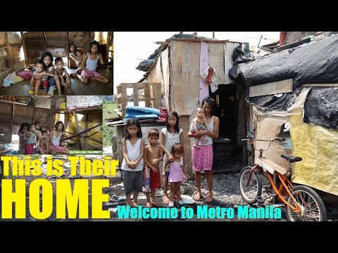 Living in Extreme Poverty in Manila Philippines. Travel to t