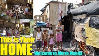 Living in Extreme Poverty in Manila Philippines. Travel to the SLUMS of th Philippines. Filipinos
