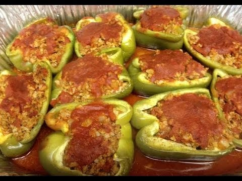 Weight Watchers - New Recipe! Stuffed Peppers 3 WW Points Per Serving!
