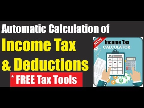 how to calculate income tax and deductions automatically save