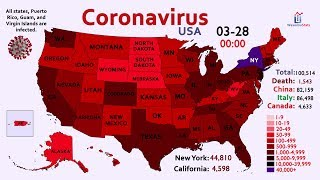 The Spread of Coronavirus in America by Map (January 31 to March 28)