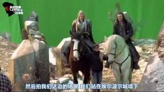 Hobbit. Thranduil on Moose (B5A Extended Edition/Behind the Scenes)