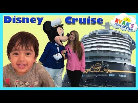 Disney Cruise Fantasy Family Fun Vacation Tour Part 1 Kids Video Princess T and Ryan ToysReview