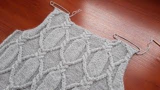 Платье (туника, пуловер) спицами. Часть 5. Горловина спинки.