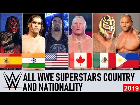 All WWE Superstars Nationality & Countries - WWE Wrestlers Country