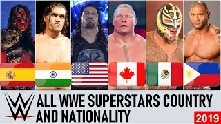 All WWE Superstars Nationality & Countries - WWE Wrestlers Country 2019 [HD]