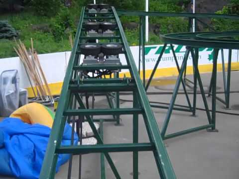 Mini Mouse Roller Coaster At Victorian Gardens Wollman Rink Manhattan NYC  2014!