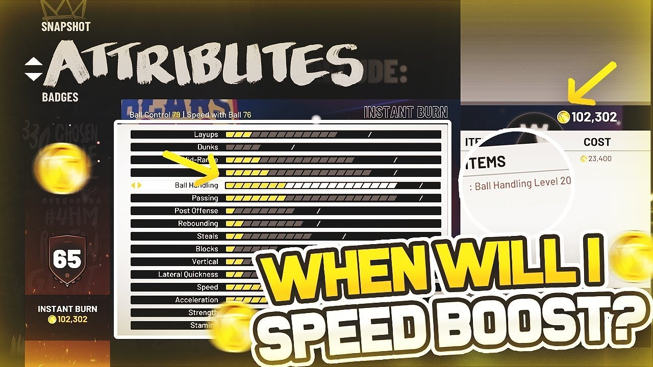 How To Tell What Rating Your Player Will Hit 86 Tier 3 Ball Control To  Speedboost NBA 2k19