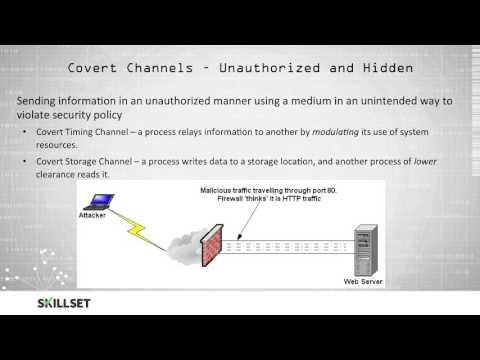 Covert Channels (CISSP Free by Skillset.com)