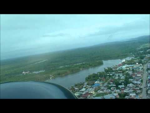 Landing in Bintuni, West Papua, Indonesia - Susi Air Cessna Grand Caravan C208B
