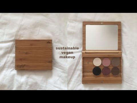 sustainable & vegan makeup; elate cosmetics review