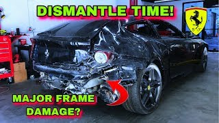 CHEAPEST WRECKED FERRARI FF IN THE WORLD PART 2 ''DISMANTLE TIME'''