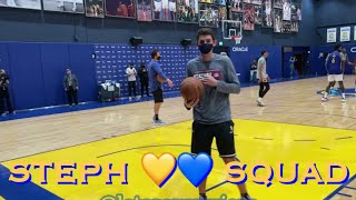 📺 Stephen Curry & Kumİnga vs Looney + Jordan Poole/Bell; more views from Warriors practice