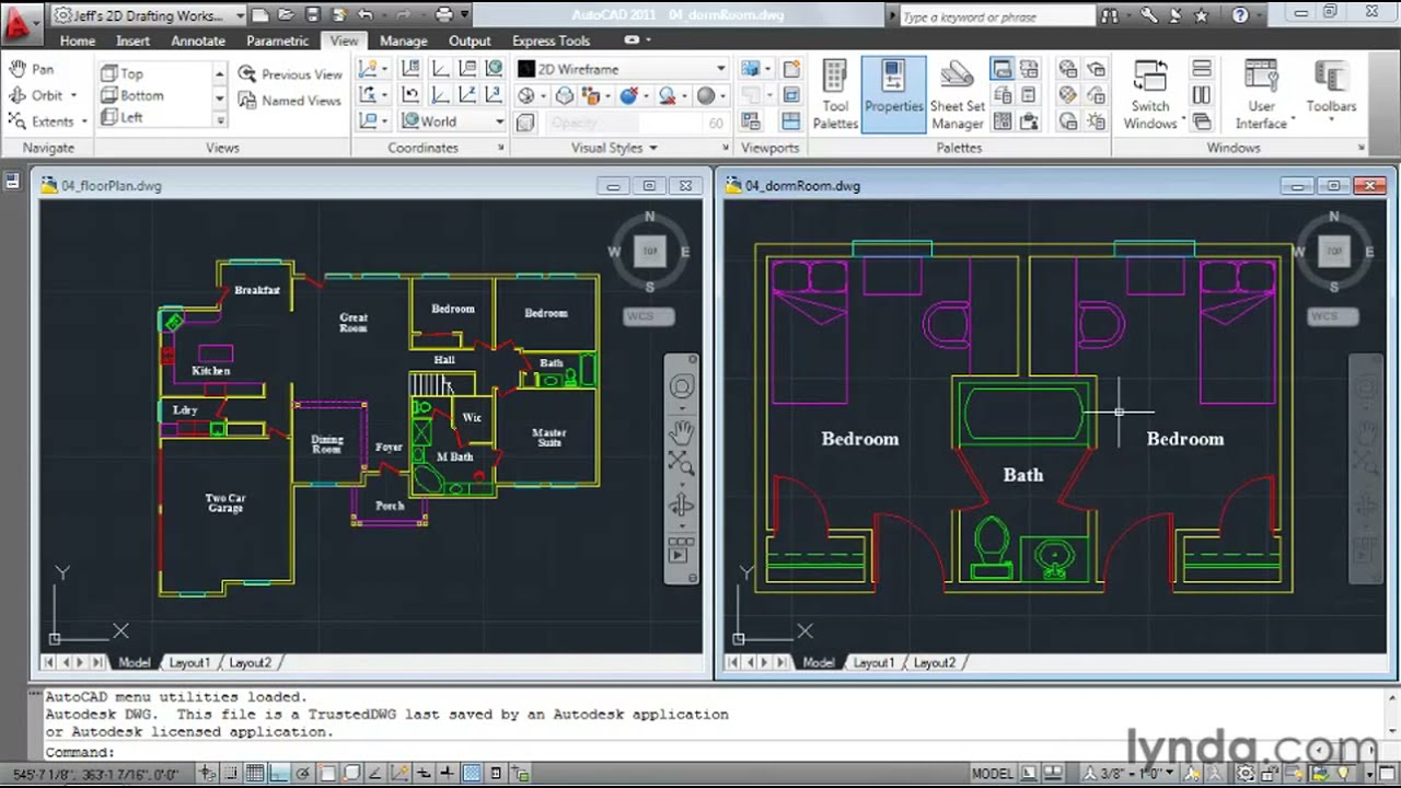 Autocad How To Manage Multiple Drawings Lynda Com Tutorial Youtube