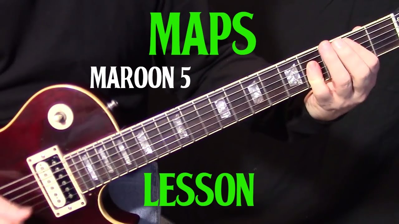 how to play maps by maroon 5 electric guitar lesson intermediate youtube. Black Bedroom Furniture Sets. Home Design Ideas