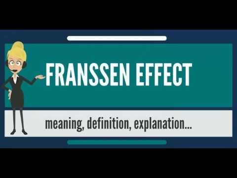 What is FRANSSEN EFFECT? What does FRANSSEN EFFECT mean? FRANSSEN EFFECT meaning & explanation