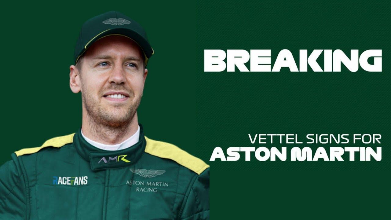 Sebastian Vettel Signs For Aston Martin Racing Youtube