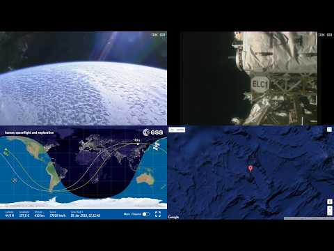Orbital Sunrise Over Asia - ISS Space Station Earth View LIVE NASA/ESA Cameras And Map - 16