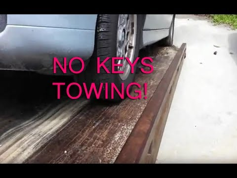 towing cars with no keys shaking car off flat bed youtube. Black Bedroom Furniture Sets. Home Design Ideas