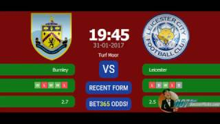 Burnley vs Leicester PREDICTION (by 007Soccerpicks.com)