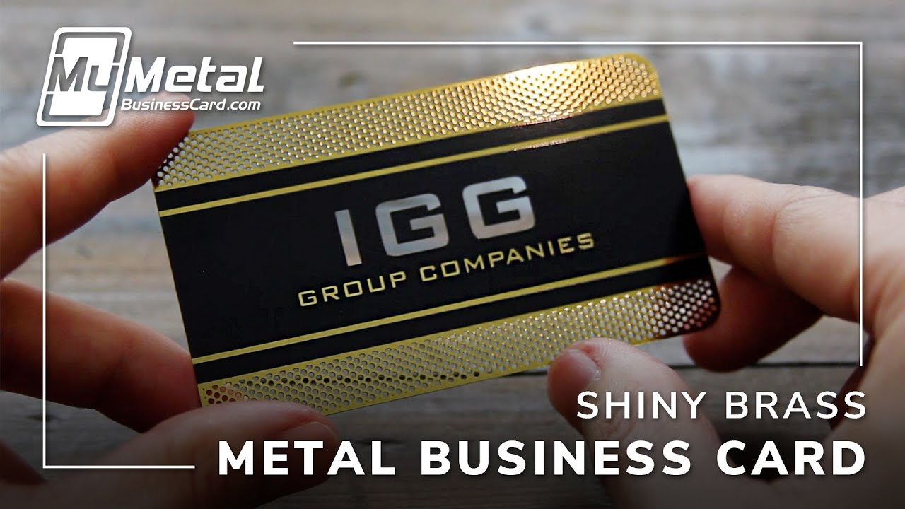 Flashy Brass Finish Gold Metal Business Card - YouTube