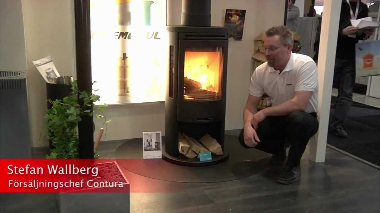 Inredning contura skorsten : Contura på Nordbygg 2012 - Contura braskaminer - YouTube