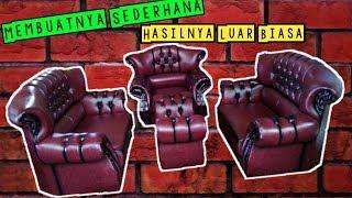 Melihat cara membuat sofa kancing || Sofa minimalis ruang tamu kecil