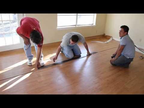Installing a vinyl floor wood pattern  YouTube