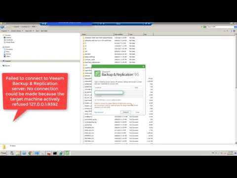 Failed to connect to Veeam Backup & Replication Server FIX