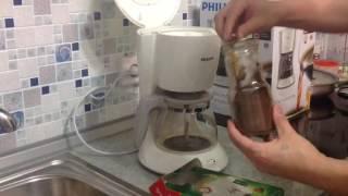 Любительский Обзор капельной кофеварки Philips HD7447 часть 1