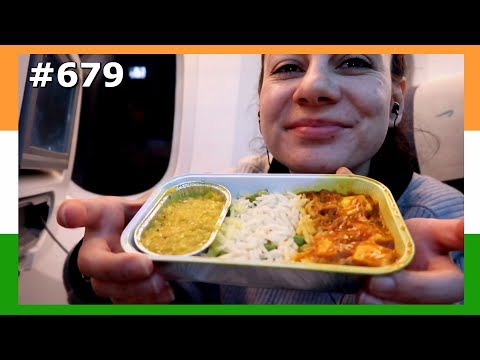 DELICIOUS FLIGHT INDIAN FOOD BRITISH AIRWAYS AMSTERDAM TO MUMBAI DAY 679  | TRAVEL VLOG IV