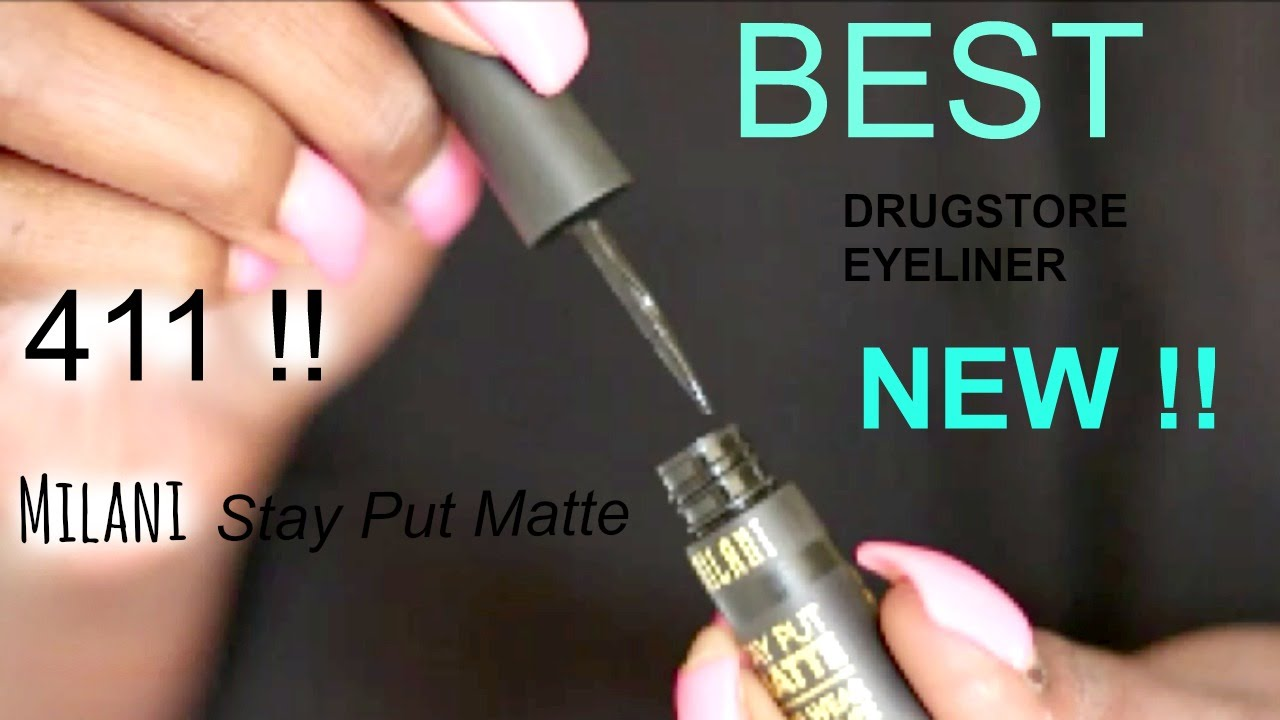 NEW Milani Stay Put Matte Eyeliner is BEST black DRUGSTORE ...