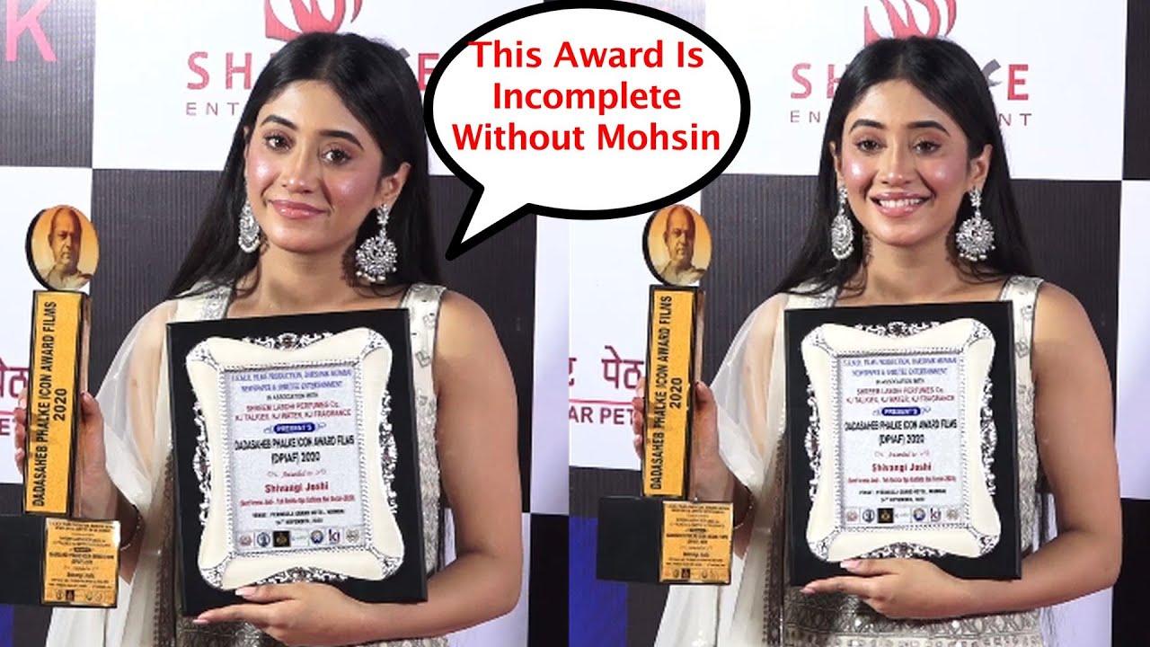 Shivangi Joshi Missing Mohsin Khan In Dada Saheb Phalke Award 2020