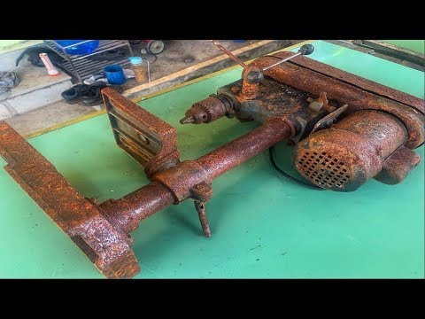 Restoration Machine Hole Making Old | Reuse Old Rusty Drill Restore
