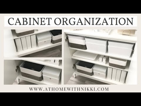 DIY OFFICE ORGANIZATION | ORGANIZING A SIMPLE CABINET
