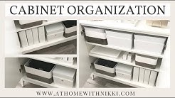 DIY OFFICE ORGANIZATION | ORGANIZING A SIMPLE CABINET