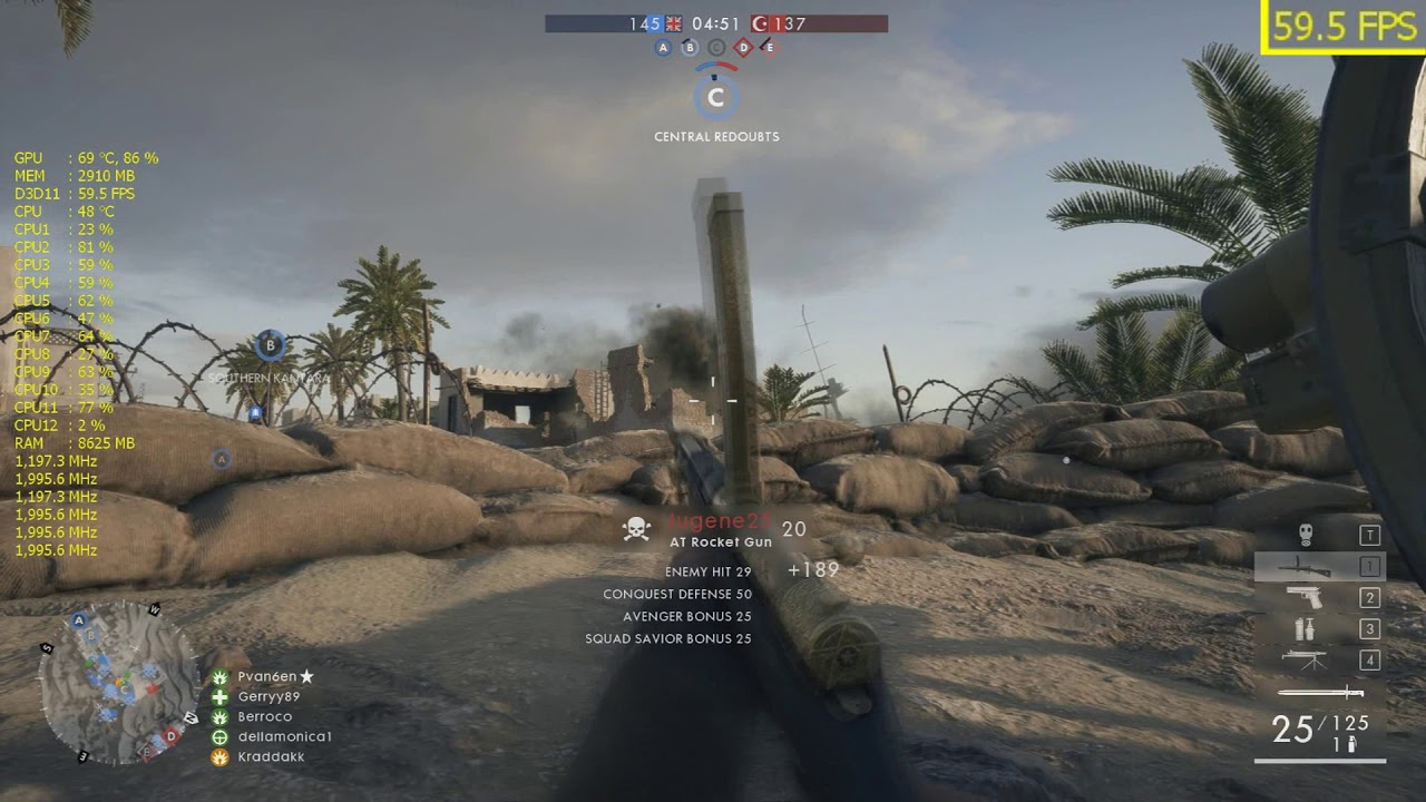 Battlefield 1 - FPS - Intel Xeon E5-2667 / GTX 1060 3 GB