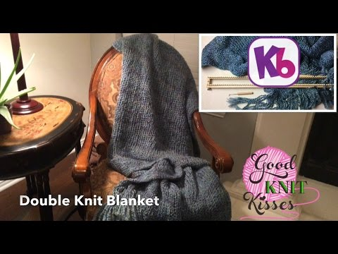 Easy Double Knit Blanket 28 Kb Loom Knit In One Piece Youtube