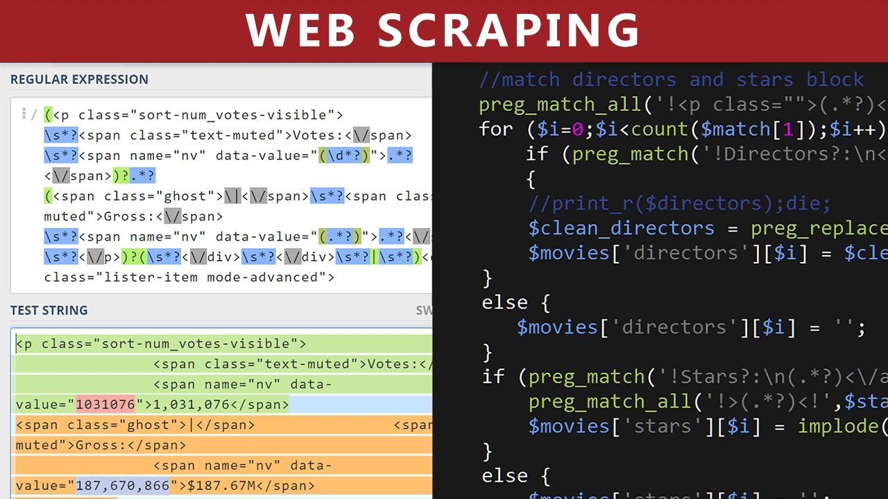 Web Scraping Using PHP - Parse IMDB com Movies HTML