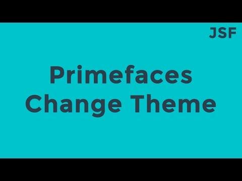JSF Primefaces Change Theme