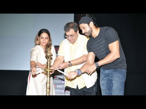 Farhan Akhtar Conducts A Masterclass With Subhash Ghai @ Whistling Woods