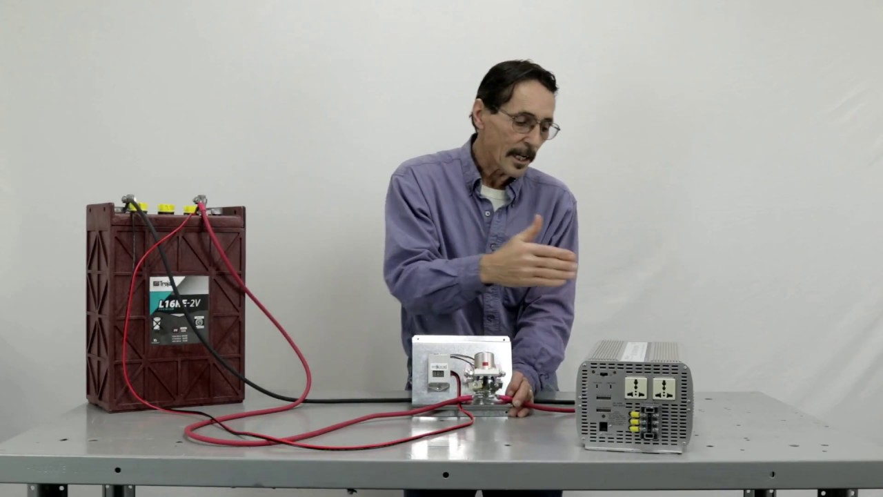 low voltage shutdown relay for dc to ac power inverters by missouri wind and solar [ 1280 x 720 Pixel ]