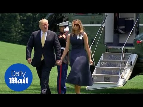 Trump And FLOTUS Arrive Back At White House From Japan Trip