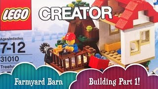 Farmyard Barn Building Part 1 Lego Treehouse Creator Build 3 Different Houses From 1 Lego Set