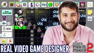 مصمم لعبة فيديو يخلق مستوى في سوبر ماريو صانع 2 • المهنيين اللعب