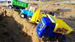 Мультик про машинки. Синий трактор и его друзья. Строительная техника.