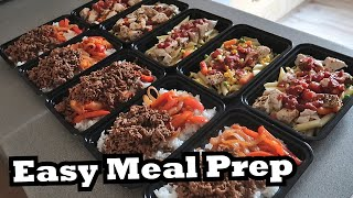 EASY MEAL PREP RECIEPES FOR BEGINNERS | Simple Meal Prep Recipes For Muscle Gain!